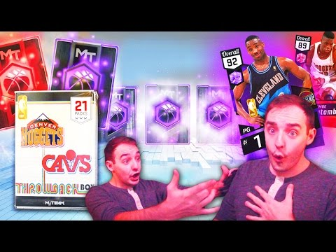 NBA 2K17 My Team BEST BOX EVER 10+ AMETHYST & RUBY! INSANE THROWBACK PACKS!