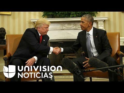 """Barack Obama asegura que tuvo una """"excelente"""" reunión con Donald Trump"""