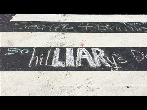 DNC 2016: Democratic Division Illustrated in Chalk