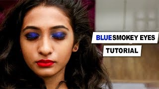 How To: Blue Smokey Eyes   Eye Shadow   Makeup Tutorial   TBG Bridal Store