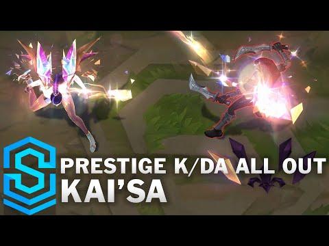 Prestige K/DA ALL OUT Kai'Sa Skin Spotlight - League of Legends