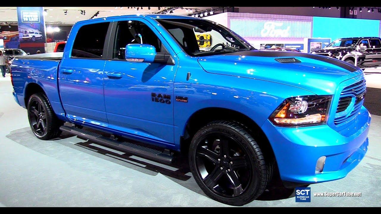 Hydro Blue Ram 1500 >> 2018 Dodge RAM 1500 Hydro Blue Sport - Exterior and Interior Walkaround - 2017 LA Auto Show ...