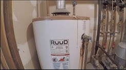 RUUD hot water heater replaced