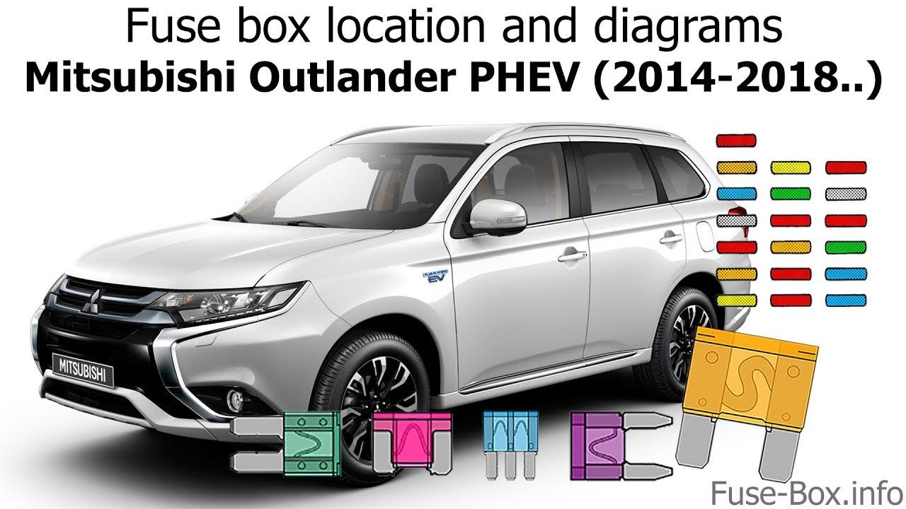 fuse box location and diagrams mitsubishi outlander phev 2014 2018  [ 1280 x 720 Pixel ]