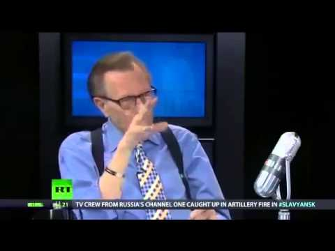 Larry King Faces Off with Abby Martin on Dinosaur Media