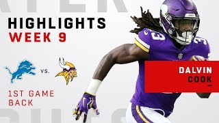 Dalvin Cook Highlights from His First Game Back!