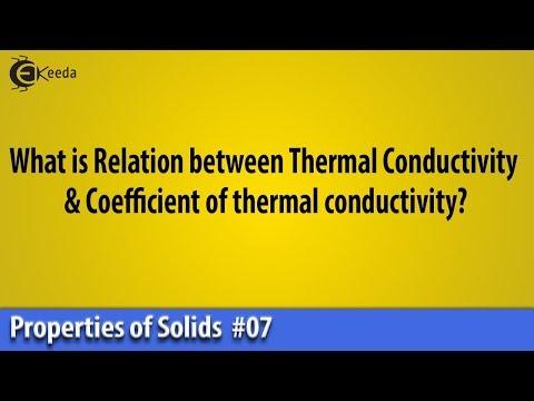 Relation between Thermal Conductivity & Coefficient of thermal conductivity | Ekeeda.com