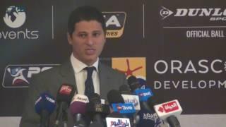بالفيديو| عمرو منسي: استضافة الجونة لبطولة الإسكواش