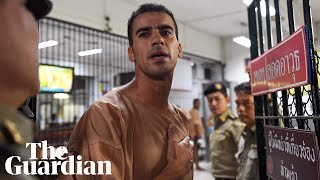 Refugee footballer Hakeem al-Araibi arrives at court in Thailand