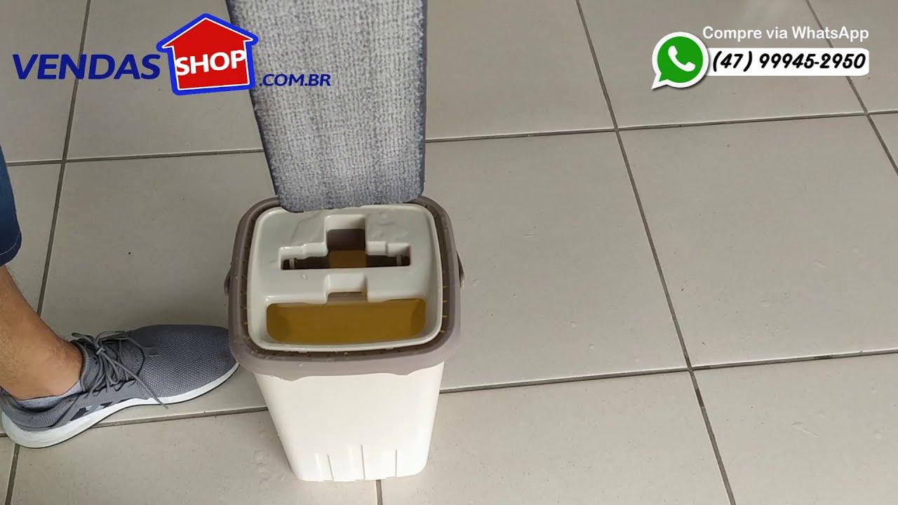 Balde Mop Flat Easy Limpador Multiuso Lava e Seca