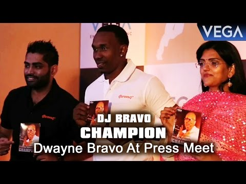 Dwayne Bravo at Press Meet Of Dj Bravo Champion...