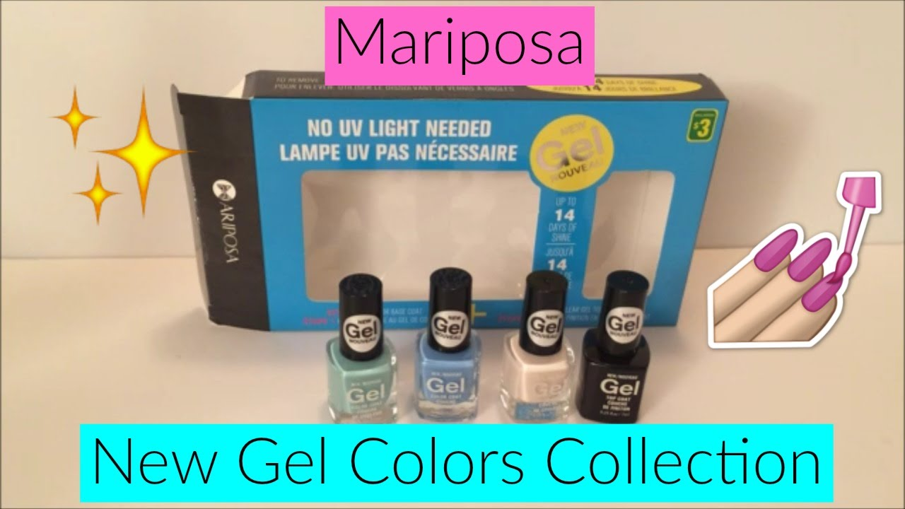 Testing/Reviewing the Mariposa New Gel Colors Collection! - YouTube