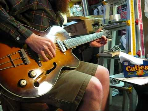 Vintage 1960 S Kay Swingmaster Archtop Hollowbody Electric Guitar