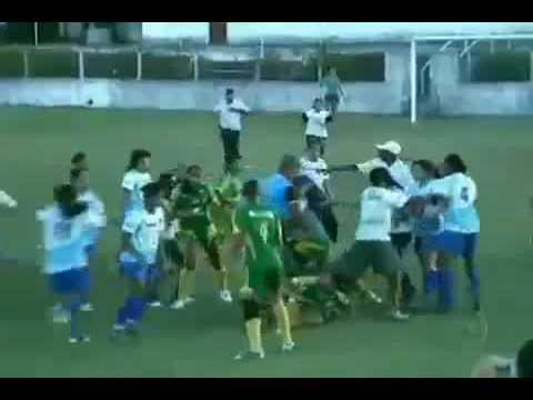 Briga Futebol Feminino De Alagoas Fight Women's Football AMAZING   Cesmac Vs Sóesporte HQ
