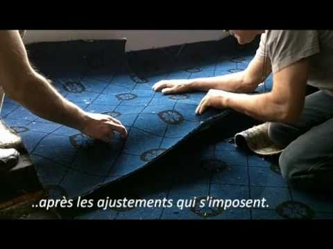 pose de moquette tendue youtube. Black Bedroom Furniture Sets. Home Design Ideas