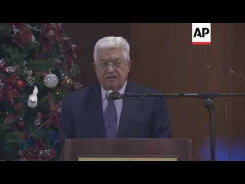 Abbas against moving US embassy to Jerusalem