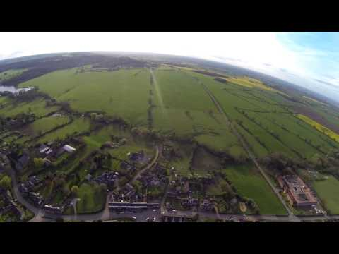 Sky View Of Woolsthorpe By Belvoir - RC Plane With GoPro