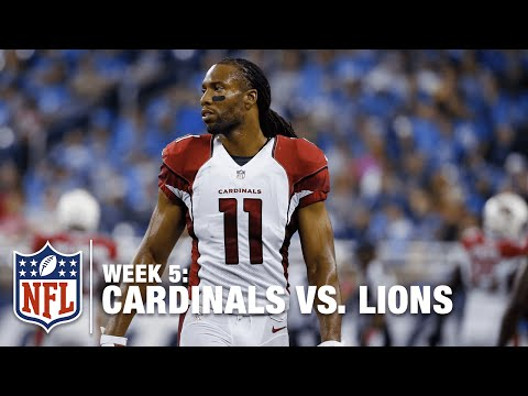 Lions QB Dan Orlovsky Throws It Away to Larry Fitzgerald On the Sideline | Cardinals vs. Lions