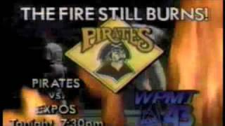 WPMT Fox 43 - Pirates vs. Expos commercial - July 1990