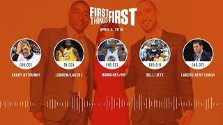 First Things First audio podcast (4.4.19)Cris Carter, Nick Wright, Jenna Wolfe   FIRST THINGS FIRST