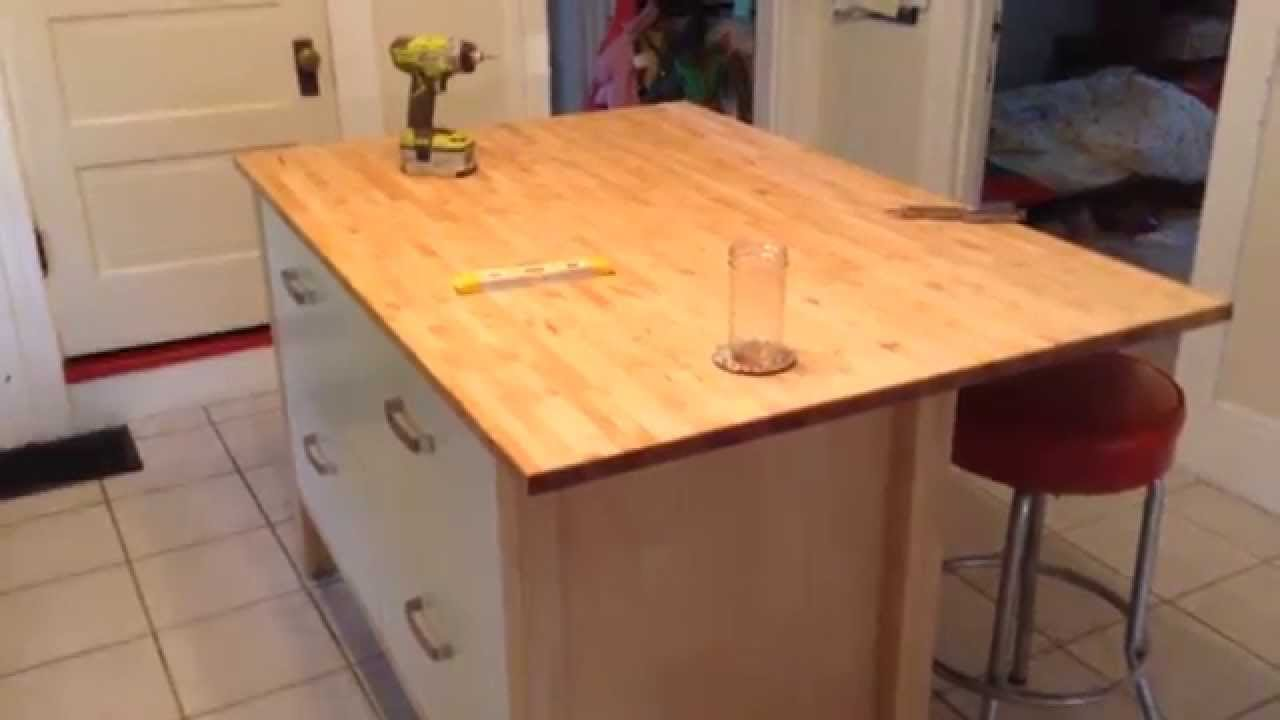 Ikea Varde Four Drawer Kitchen Island Assembly Tutorial YouTube - Kitchen islands at ikea