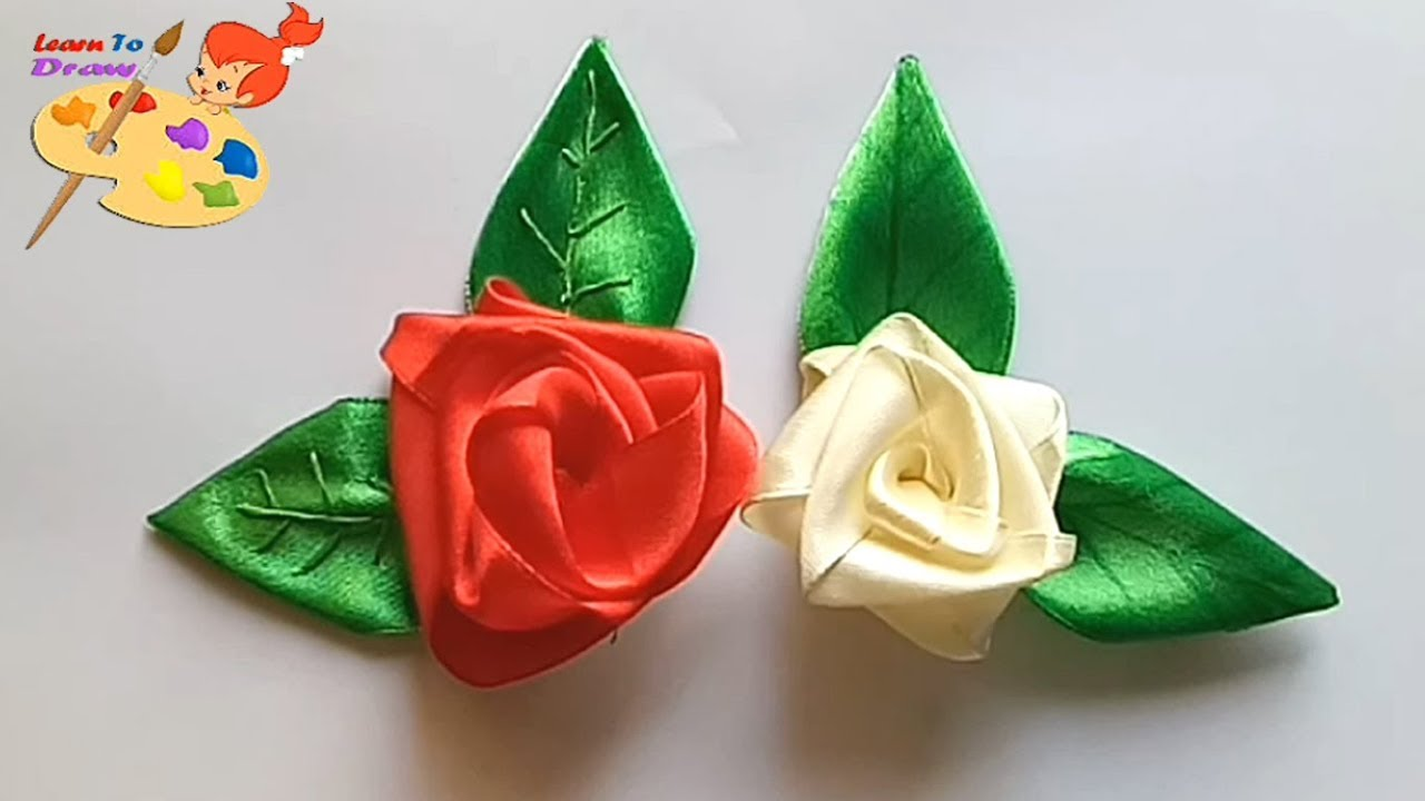 How to make a ribbon rosettes, ribbon roses (Tutorial) • K4 Craft | 720x1280