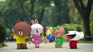 JD's Joy Mascot stars in micro movie with the LINE FRIENDS characters