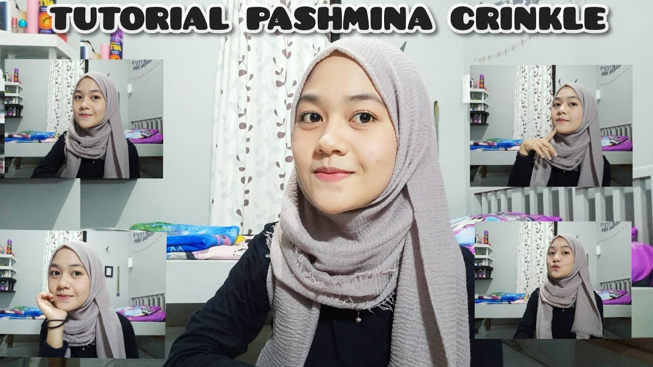 Tutorial Hijab Pashmina Crinkle By Slvrhmn Youtube