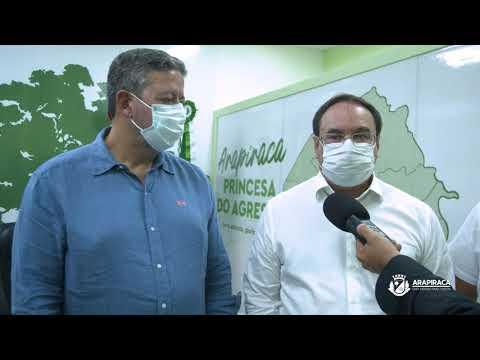 Prefeito Luciano e deputado Arthur Lira assinam ordens de serviços para obras em Arapiraca