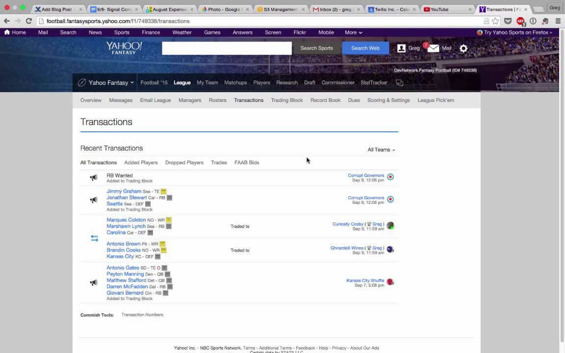 Yahoo fantasy football trade options