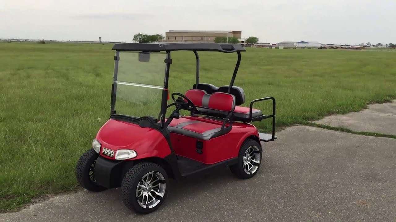 2012 E-Z-GO RXV Electric Flame Red Custom Golf Car Located in ... on lincoln on a rail cart, 2013 ezgo txt, 2013 ezgo electric golf cart,