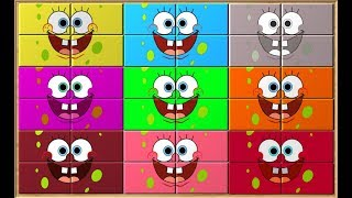 Sponge Bob Learn Colors Puzzle Game for Kids | Puzzles Blocks