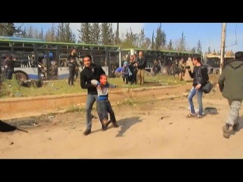 Syrian evacuation bomb blast death toll climbs
