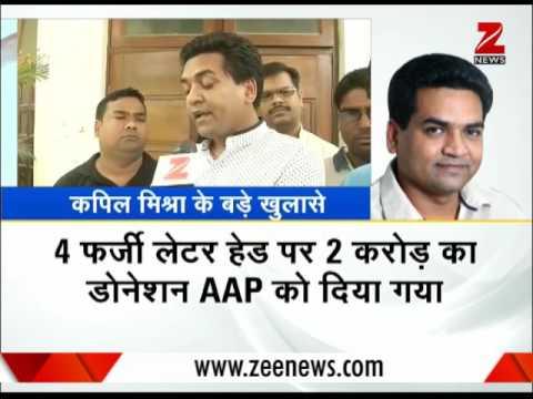 Kapil Mishra alleges Arvind Kejriwal involved in `hawala scam`