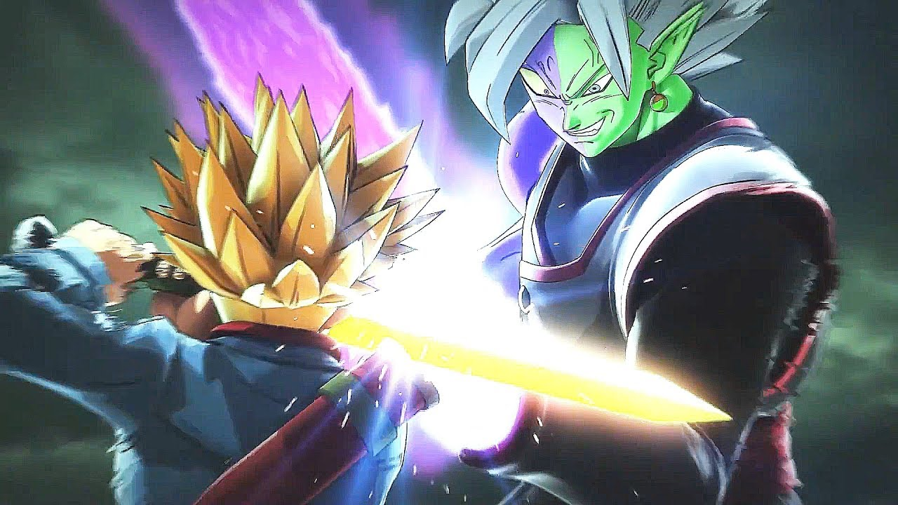 Super Saiyan Rage Trunks Vs Fusion Zamasu Full Fight Dragon Ball