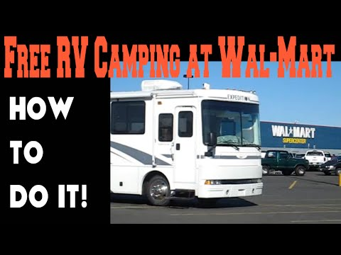 How to camp in an RV at Wal-Mart for free