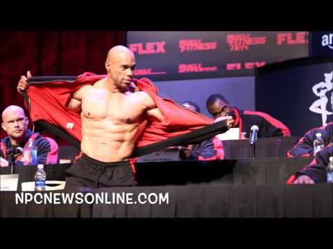 Kevin Levrone   Mr Olympia 2016 Press Conference Pose Down