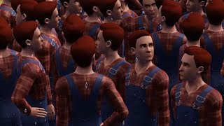 When you're bored in The Sims so you create 298 clones of the same character