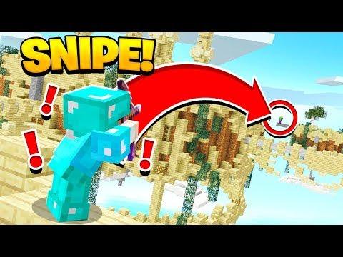 EPIC BOW KILL SHOT! (Minecraft Skywars)