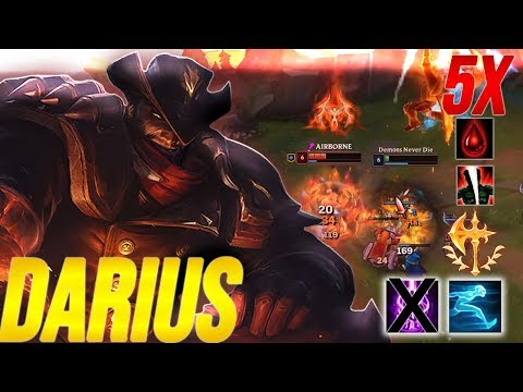 Darius High Noon Skin Epic Montage-(5X STACK ONE KILL) League Of Legends Gameplay