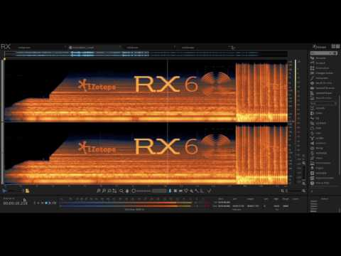 izotope RX 6 - spectral sculpting
