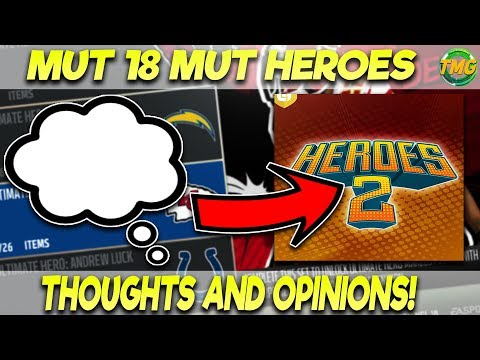 MUT 18 MUT HEROES 2 PROMO: THOUGHT AND OPINIONS! | MADDEN 18 ULTIMATE TEAM MUT HEROES 2 PROMO
