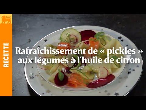 Rafraîchissement de « pickles » aux légumes à l'huile de citron