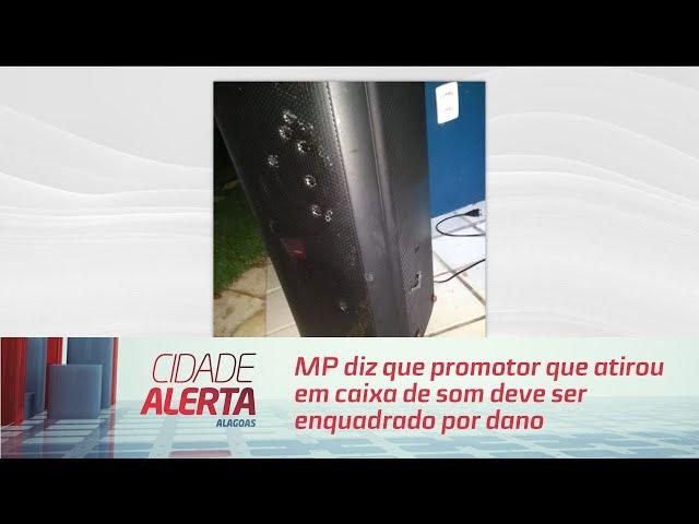 MP diz que promotor que atirou em caixa de som deve ser enquadrado por dano