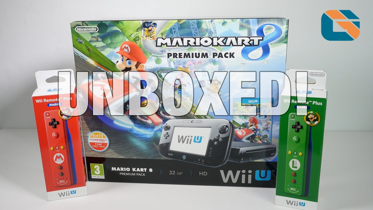 966e3a65d20 Nintendo Wii U Mario Kart 8 Premium Pack Unboxing & First Look - YouTube