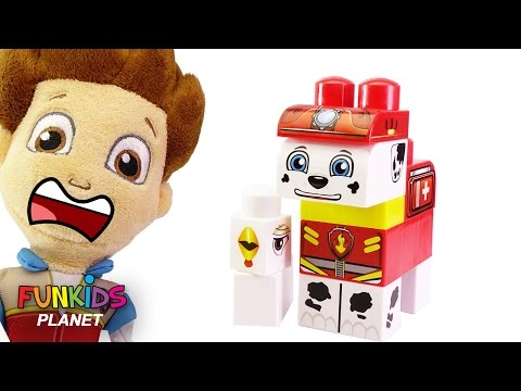 Thumbnail: Learning Videos for Children: Paw Patrol Skye & Marshall Ionix Construct-A-Pup, Rescue Block Set