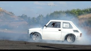 Fiat 126 Yamaha R1 engine.. Burnout