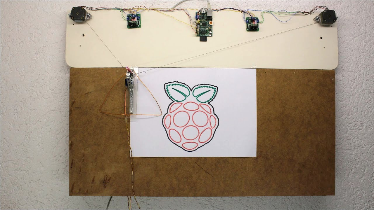 Hanging wall plotter - Raspberry Pi