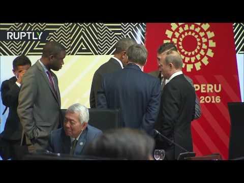 Путин и Обама поговорили один на один перед началом заседания АТЭС