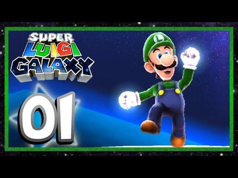 Super Luigi Galaxy  Part 1: Grand Star Rescue Super Mario Galaxy  Aaronitmar
